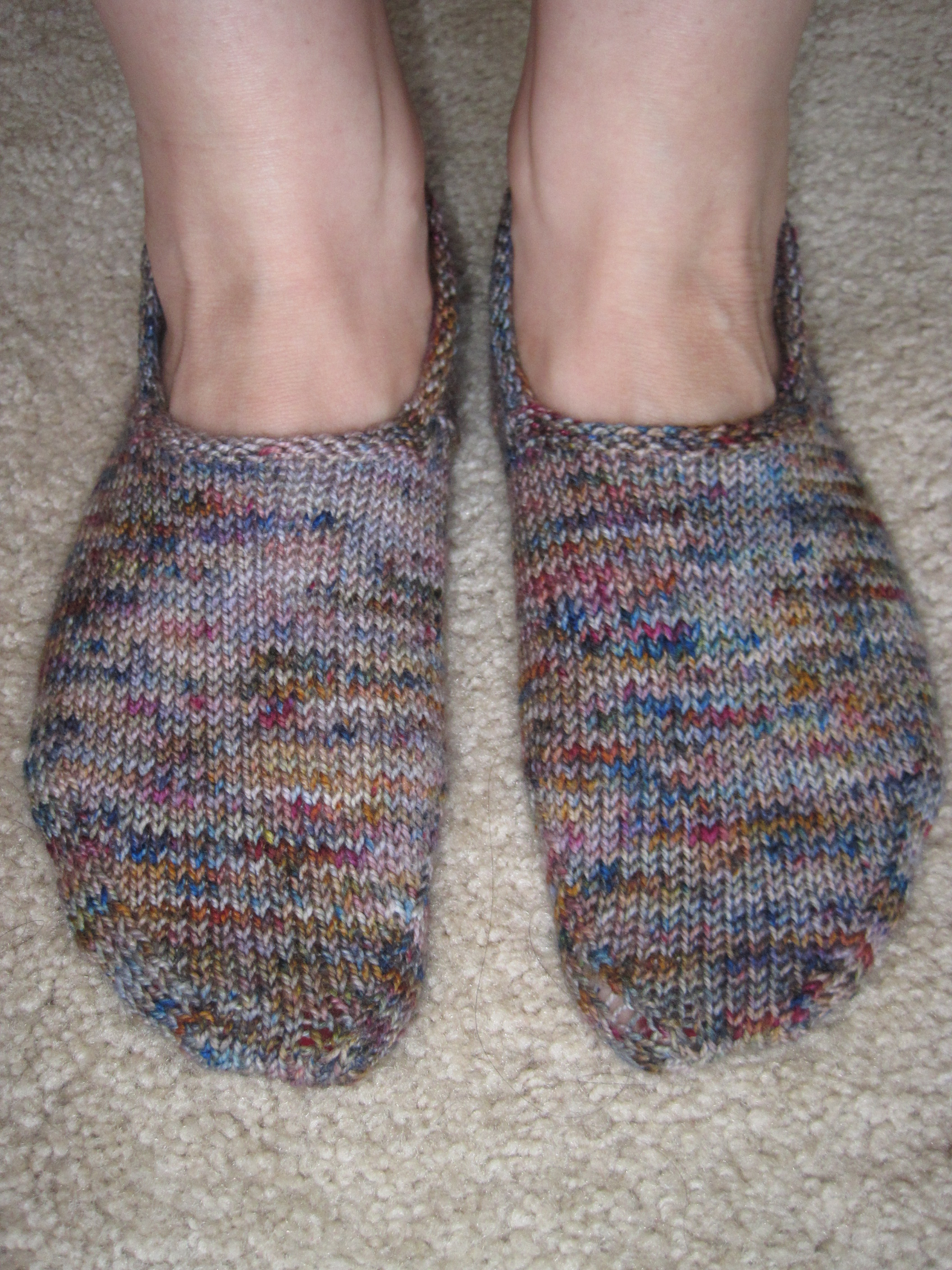 Hermosa Knitted Bed Socks Free Patterns Cresta - Manta de Tejer ...